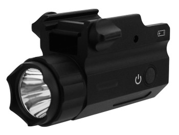 TacFire Compact Flashlight, 360 Lumens, CR123A Lithium, Black