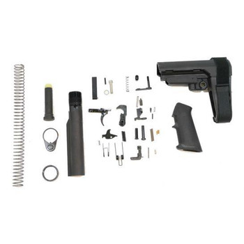 PSA PISTOL LOWER BUILD KIT WITH ADJUSTABLE SB TACTICAL BRACE, BLACK