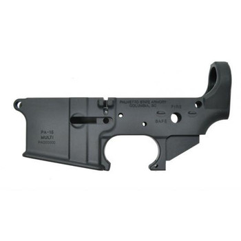 Palmetto State Armory PA-15 AR-15 Stealth Blank No Logo Lower Receiver Milspec Aluminum Black Anodized Safe Fire