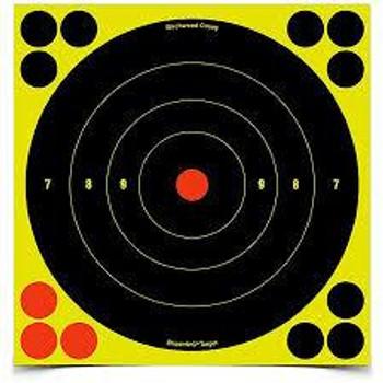"Birchwood Casey Shoot-N-C Self-Adhesive Paper 8"" Bullseye Black 6 Per Pack"