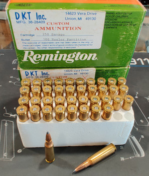 DKT Inc. Custom Ammunition 250 Savage, 100 gr. Nosler Partition