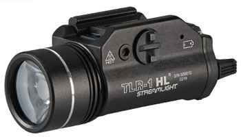 Streamlight TLR-I HL Weapon Light w/ dual remote, 1000 Lumens, CR123A Lithium, Black