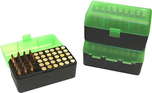 MTM R-50 Rifle Flip-Top 50 Round Ammo Box