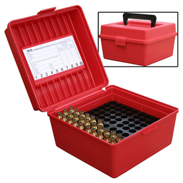 MTM 100 Round Deluxe Handled Flip-Top Rifle Ammo Case