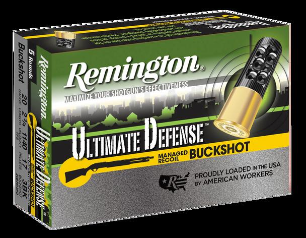 Remington Ultimate Defense Buckshot 20 Gauge