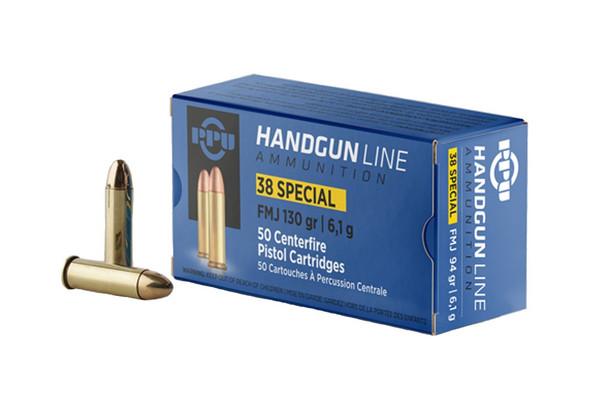 PPU Handgun Line Ammunition 38 Special