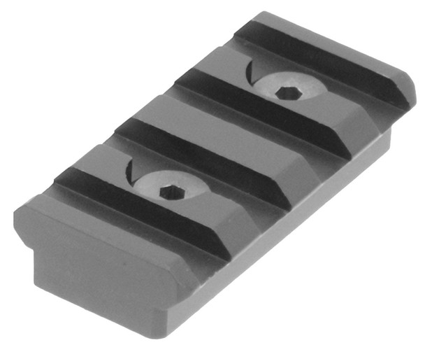 UTG Picatinny Rail Section, KeyMod, 4 Slots, Black Anodized Aluminum