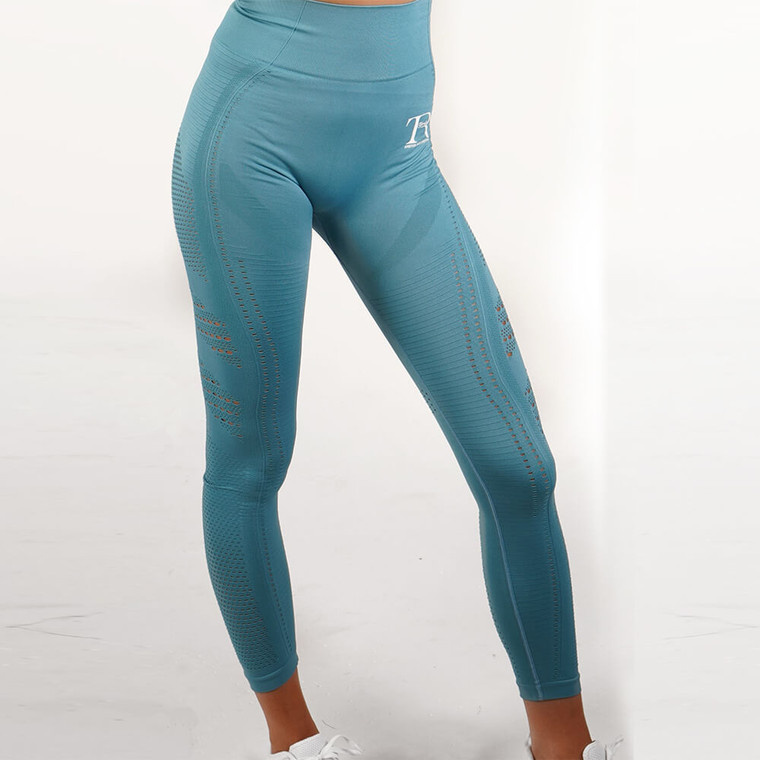 Green seamless high-waisted gym leggings for women | Tirule Ambition Over Everything