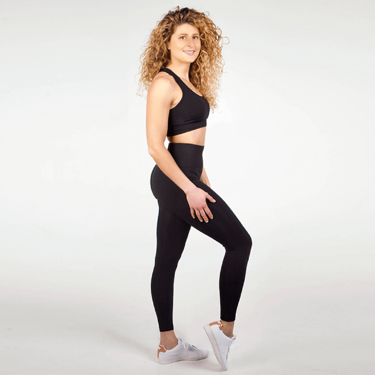 Black seamless high-waisted gym leggings for women   Tirule Ambition Over Everything