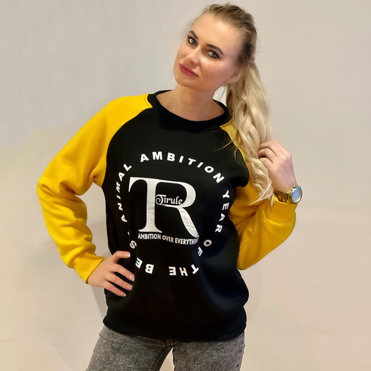 Black sweatshirts for women and men by Tirule Ambition Over Everything