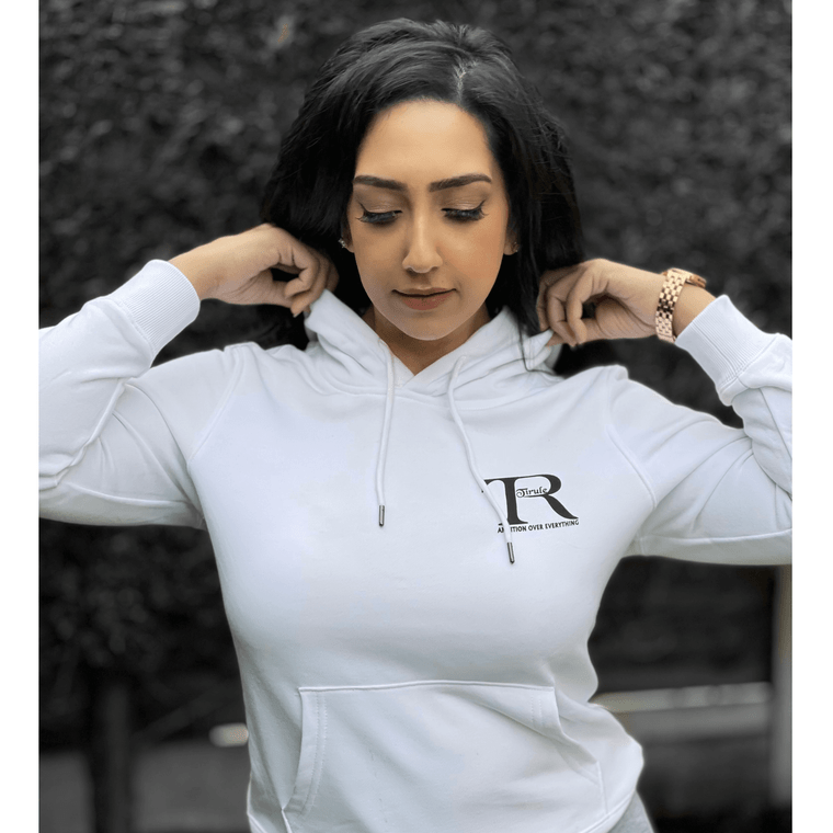 Nice White Cool Pullover Hoodies For Women  | Tirule Ambition Over Everything
