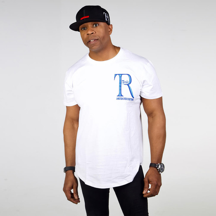 White Regular Fit Crew Neck Cotton T-shirts For Men | Ambition Over Everything