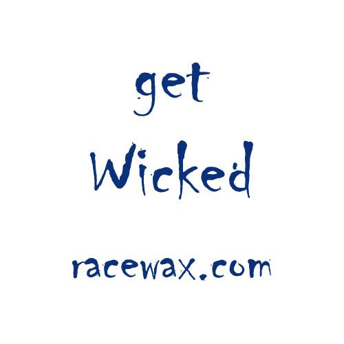 """Racewax.com Sticker """"get Wicked"""""""