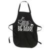 Big Daddy Apron, white silkscreen on black apron, one size fits all