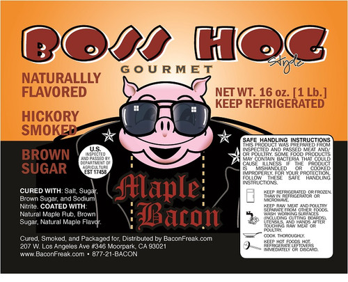 Boss Hog Maple Bacon Label