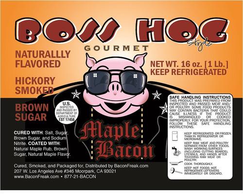 Boss Hog Maple Bacon Label
