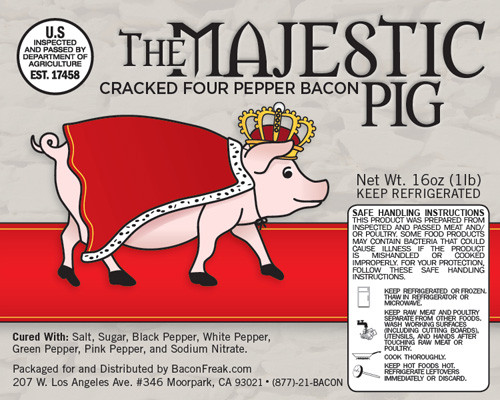 The Majestic Pig Cracked Four Pepper Bacon