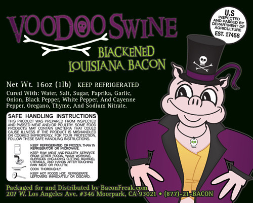 Voodoo Swine Blackened label