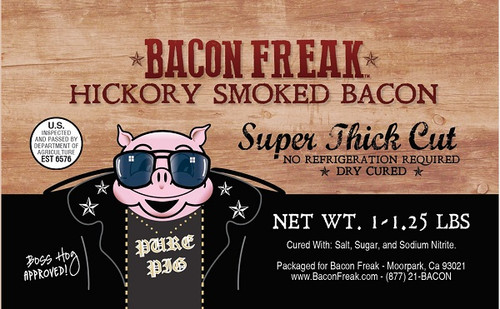 Super Thick Hickory Smoked label