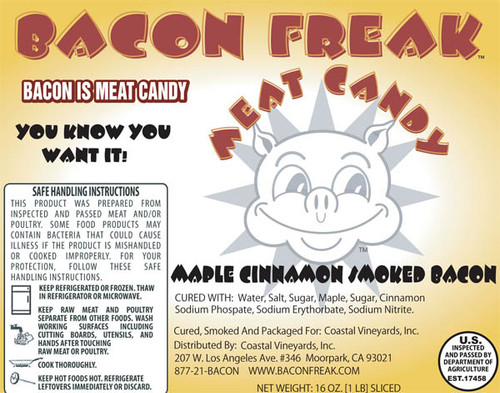 Bacon Freak Maple Cinnamon label