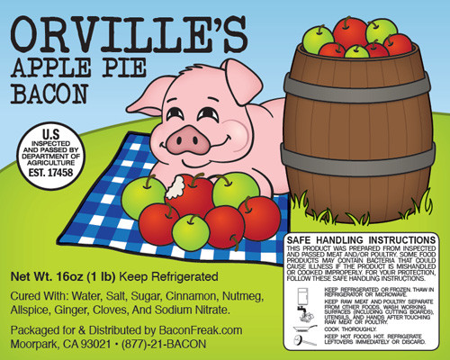 Orville's Apple Pie Label