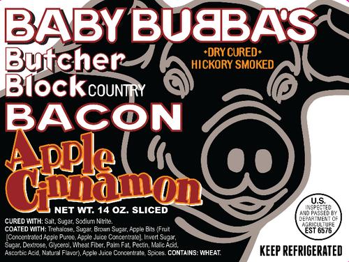 Baby Bubba's Apple Ciinnamon label