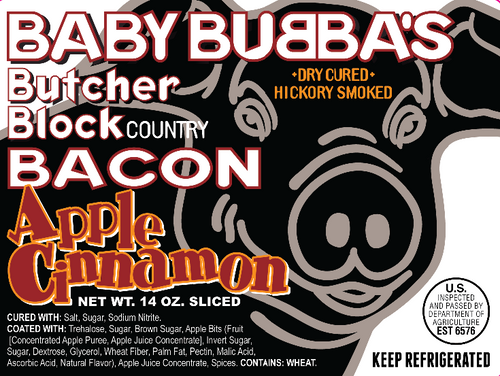 Baby Bubba's Apple Ciinnamon label