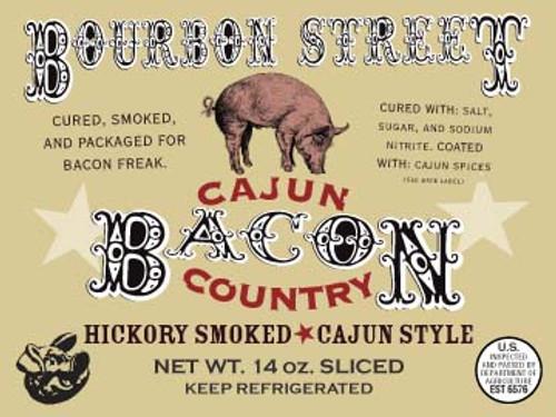 Bourbon St. Cajun label