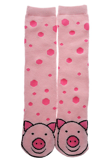 Pink Piggy Socks