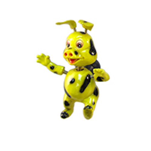 Yellow Spotted Piggy Bobble Magnet