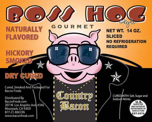 Boss Hog Hickory Smoked Label
