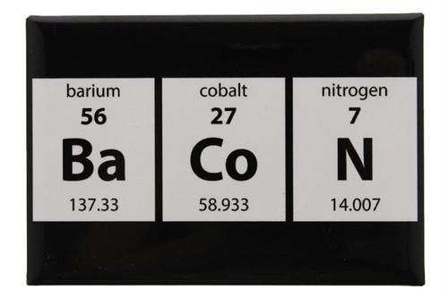 Periodic Bacon Metal Magnet