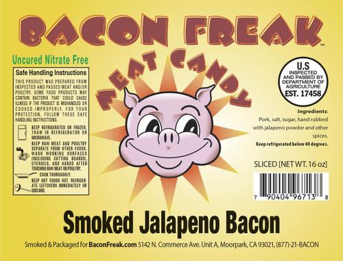 Bacon Freak Uncured Jalapeno Bacon Label