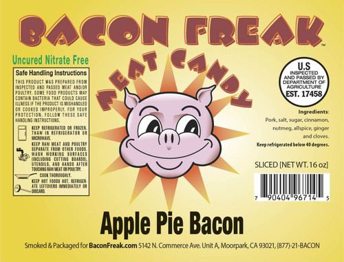 Bacon Freak Uncured Apple Pie Bacon Label
