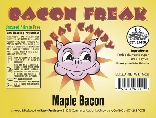 Uncured Smoked Maple Bacon Label