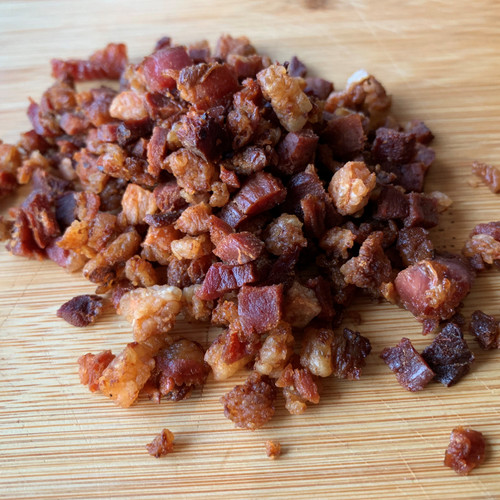 Bacon ends & pieces chopped and cooked to make real bacon bits.