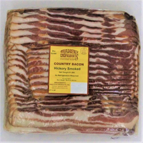 Broadbent Hickory  Smoked Dry Cured Bacon 5 lb. Pack