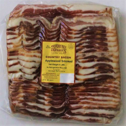 Broadbent Applewood Smoked Bacon 5# Pack