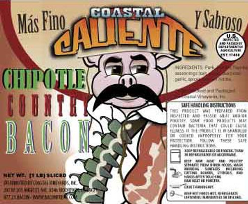 Coastal Caliente Chipotle Bacon label