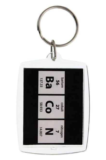 Periodic Bacon Keychain