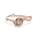 Naples Rough Diamond Solitaire Ring by Olivia Ewing Jewelry