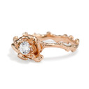 Twig and leaf diamond engagement ring by Olivia Ewing Jewelry