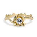Diamond twig engagement ring by Olivia Ewing Jewelry