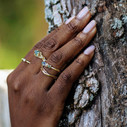 Nature wedding ring by Olivia Ewing Jewelry
