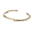 Twig cuff bracelet in 14K yellow gold by Olivia Ewing Jewelry