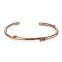 Sapling Cuff in 14K rose gold by Olivia Ewing Jewelry