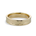 Men's yellow gold wedding band by Olivia Ewing Jewelry