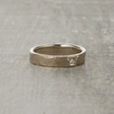 Monhegan rustic wedding ring cast from real birch bark.