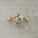 diamond alternative engagement ring