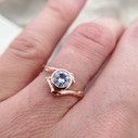 Twig engagement ring with Moissanite by Olivia Ewing Jewelry